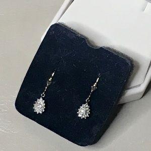 Avon Diamond Cluster Earrings